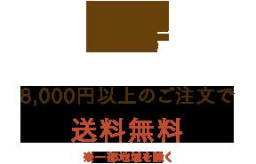 8,000円(税抜)以上のご注文で送料無料