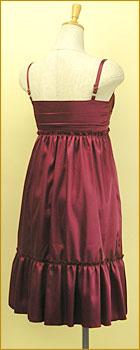 「カシュクール風の胸元がエレガントなパーティードレス」の商品写真