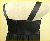 「裾フリルがCUTEなサテン&シフォン使いワンピース」詳細写真