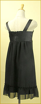 「裾フリルがCUTEなサテン&シフォン使いワンピース」の商品写真